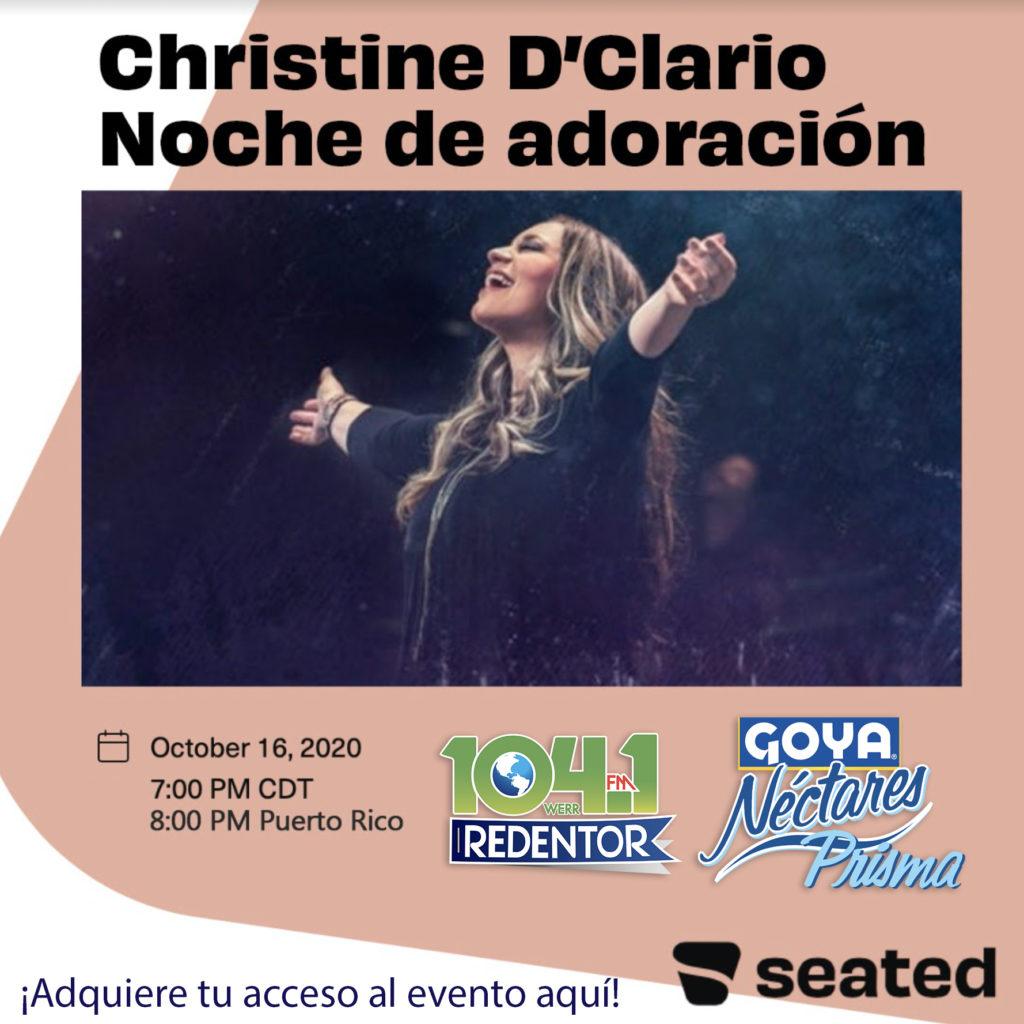 Christine D'Clario Noche de Adoración - 104.1 Redentor